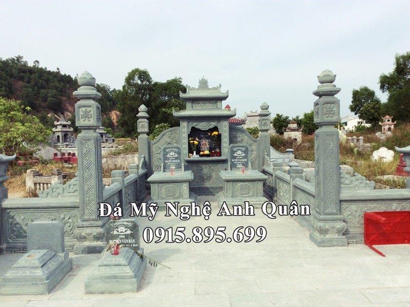 Lăng mộ đá xanh rêu do Anh Quân thực hiện tại Nghệ An