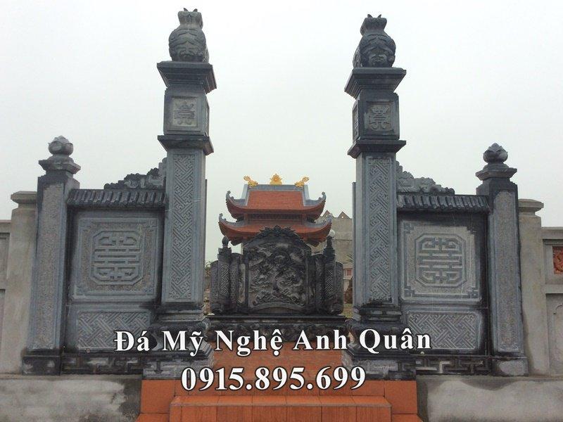 Mat truoc khu lang mo to ho Hoang