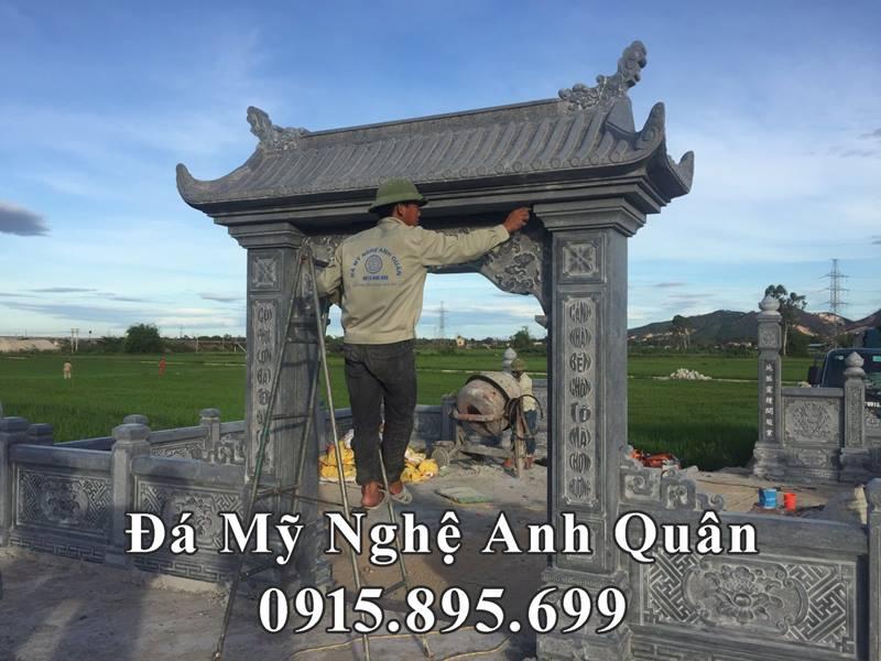 Hinh anh Cong da cua Khu lang mo
