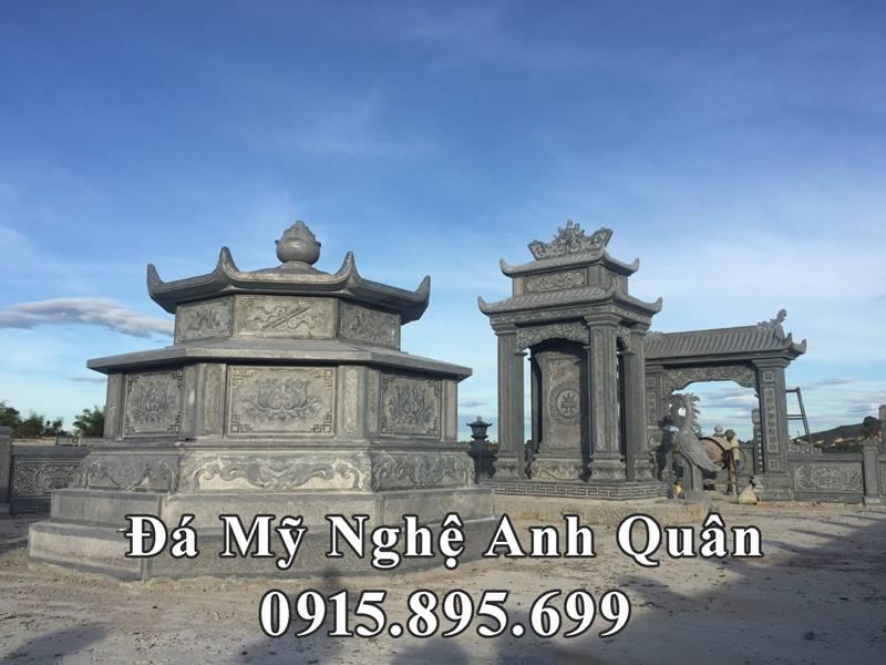 Mộ đá Bát giác trong khu lăng mộ đẹp tại Quảng Nam