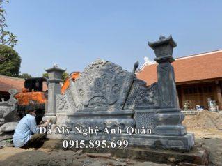 Lắp đặt Bức Bình phong đá cho Đình làng tại Gia Lâm, Hà Nội