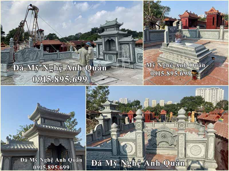 Khu Lăng mộ được xây dựng rất công phu, tọa lạc giữa khu nghĩa trang trật hẹp giữa lòng thủ đô Hà Nội.