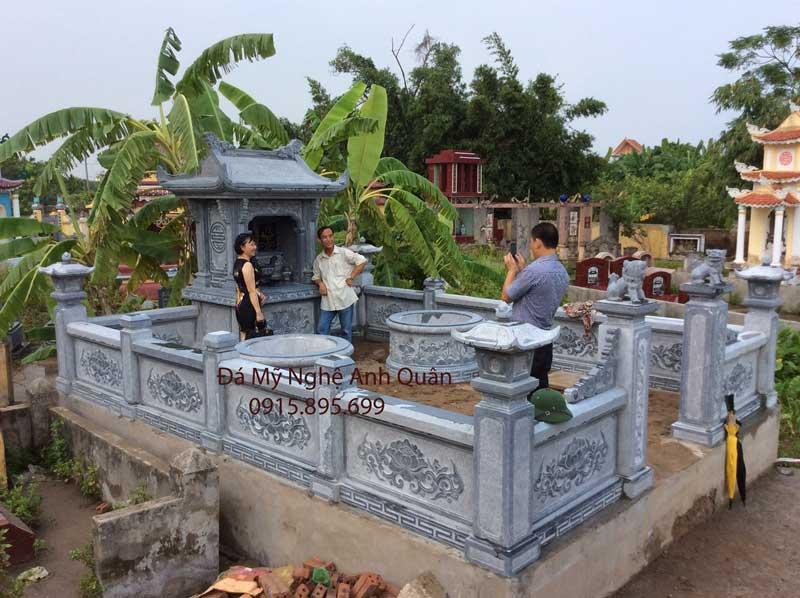 Lăng mộ đá tròn tại Nam Định đẹp Anh Quân Ninh Bình