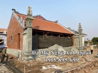 Đặt cột đá, chiếu đá Hoa SEN cho Nhà thờ họ gia đình Bác Phẩm tại Hải Hậu, Nam Định