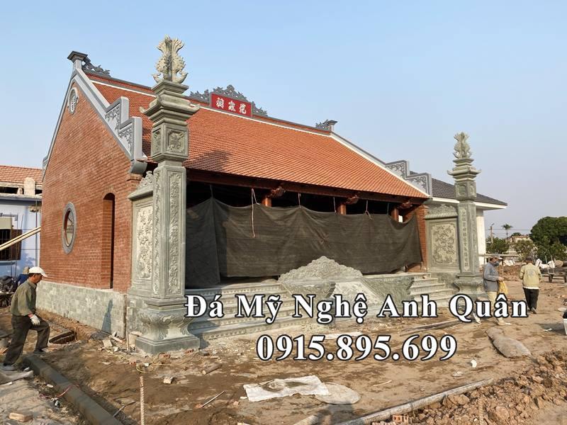 Mẫu Cột đá đồng trụ (Cột Vách), Bậc thềm đá, Chiếu SEN đá, Rồng đá bò của Nhà thờ họ/Từ đường