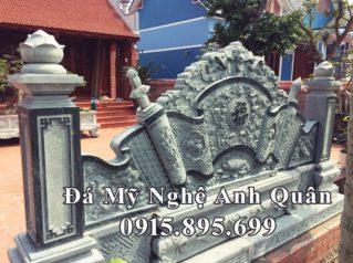 Lắp Bình phong đá (Cuốn thư đá) cho Nhà thờ ba gian tại Thái Bình