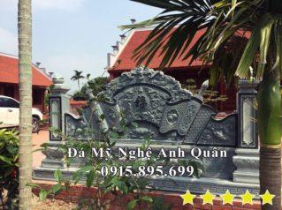 Lắp đặt Bình Phong Đá, Tác Môn Đá Đẹp cho Nhà thờ tổ tại Thái Bình