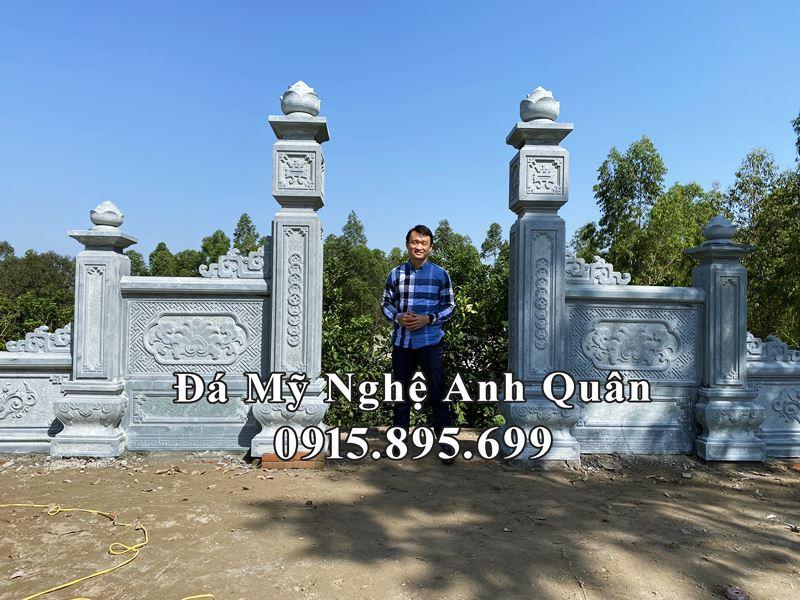 Xây dựng Khu Lăng Mộ Đá xanh rêu cao cấp cho Gia đình Chú Bình – Lâm Thao, Phú Thọ