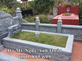 Mẫu Mộ Đá Tươi – Mộ đá chôn cất (an táng) 1 lần ĐẸP