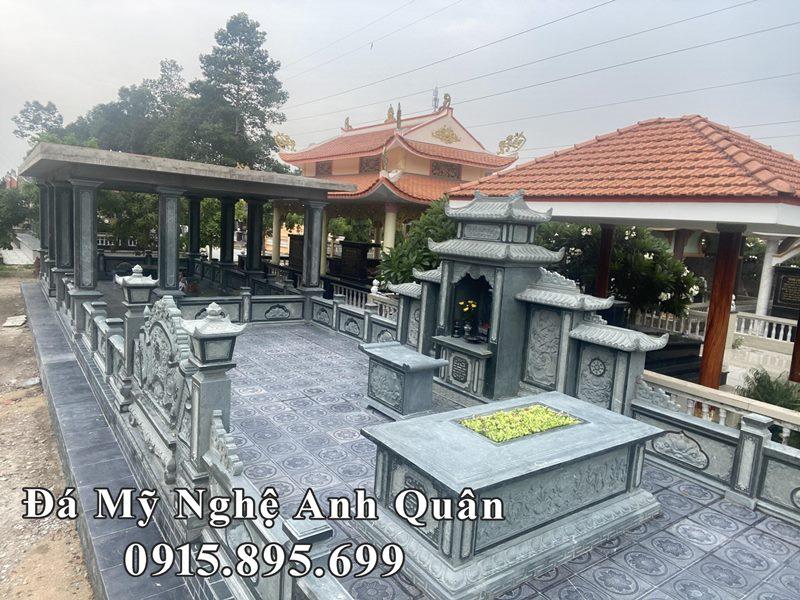 Lắp đặt Khu Lăng Mộ Đá Xanh rêu cao cấp cho Gia đình Anh Quốc tại Long Thành, Đồng Nai