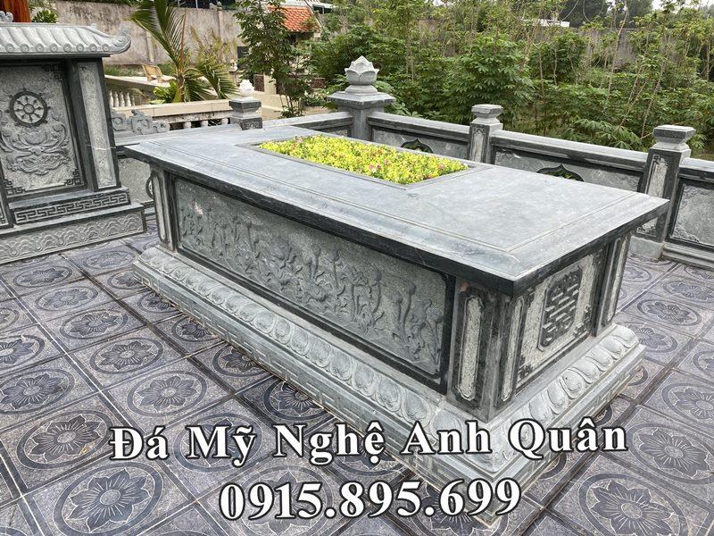Kích thước Mộ đá chôn cất 1 lần (an táng 1 lần) chuẩn phong thủy