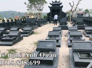 Tư vấn, xây dựng Khu Lăng mộ đẹp với Mộ đá Tam Sơn hiện đại đá xanh rêu nguyên khối