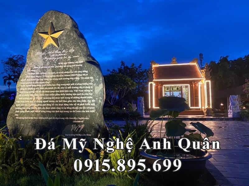 Bia đá tưởng niệm lưu Bút tích của Đại tướng Võ Nguyên Giáp