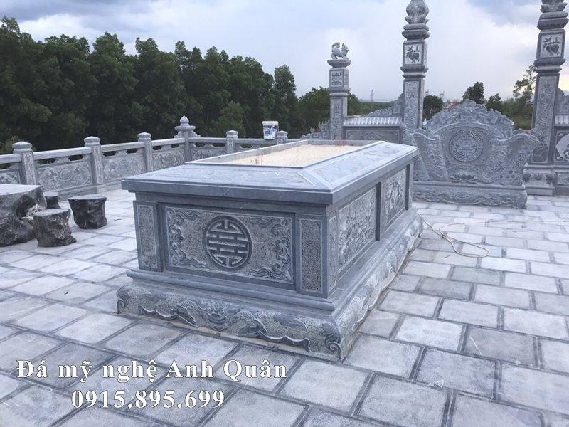 Xây dựng Lăng mộ đá đẹp an táng 1 lần – Mộ đá đẹp Anh Quân năm 2021