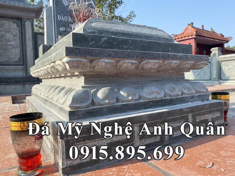 Chi tiet than cua Mo da Dep Anh Quan - Da xanh reu cao cap Granite