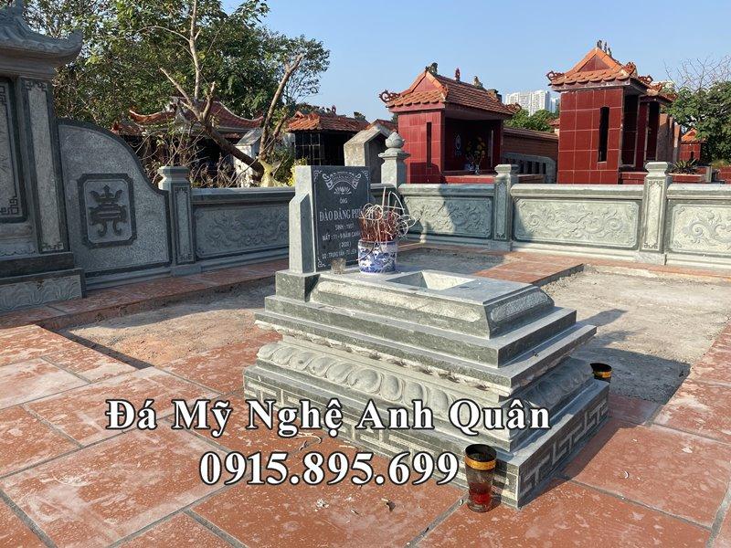 Mẫu Mộ đá Tam Sơn không mái trạm khắc Cánh SEN đẹp, kênh bong do Nghệ nhân trẻ Anh Quân thiết kế.