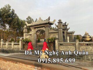 Mẫu Cổng đá tò vò – Cổng đá xanh rêu đẹp cho Khu Lăng mộ đá tại Nam Định