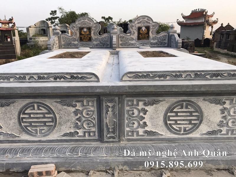 Xây dựng Lăng mộ đá đôi đẹp tại Ninh Bình cho Bố Mẹ của gia chủ