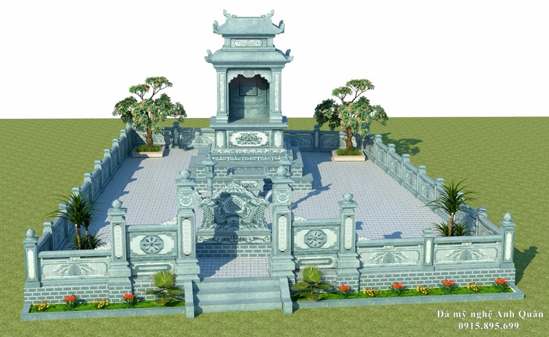 Phối cảnh, thiêt kế và lên báo giá xây dựng Lăng mộ đá, Mộ đá gia tộc.