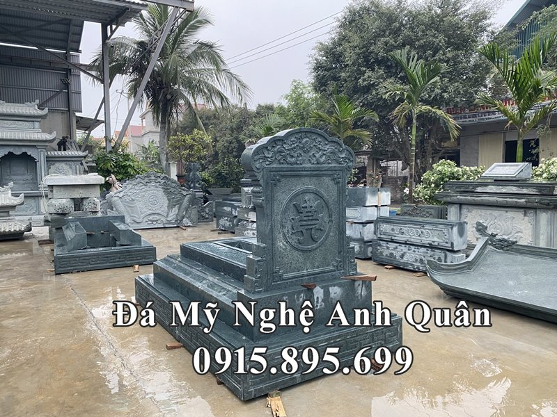 Thiet ke Mo da dep - Da xanh reu Granite cao cap Anh Quan