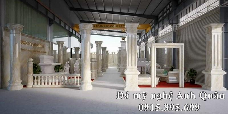 Mẫu Cột đá trắng, xanh ngọc cao cấp cho Lâu Đài, Biệt thự, Nhà hàng, Khách sạn cao cấp.