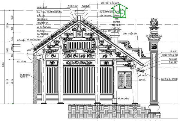 Bức thuận nhà gỗ cổ truyền