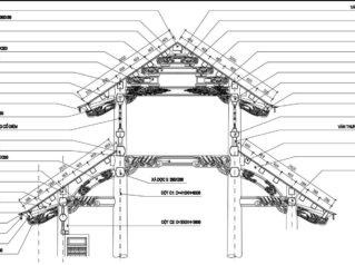 Tên gọi các cấu kiện nhà gỗ của Nhà thờ họ/tổ, quy cách kiến trúc cổ Việt Nam